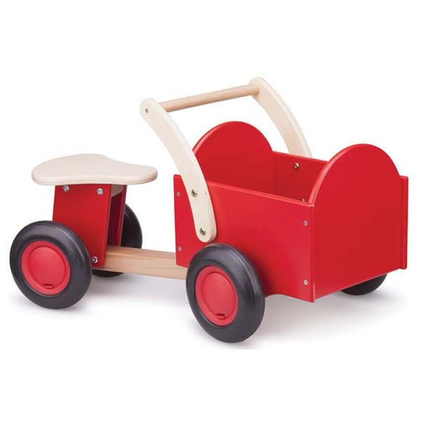 New Classic Toys Houten Bakfiets Rood