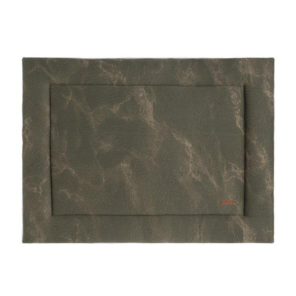 Baby's Only Boxkleed Marble khaki/olive (85x100)