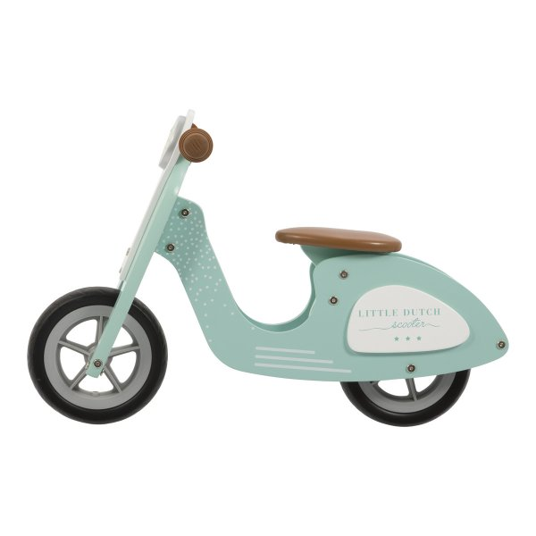 Little Dutch Houten Loopfiets scooter Mint