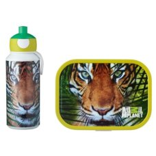 Mepal Drinkfles en Lunchbox Animal Planet Tijger Groen