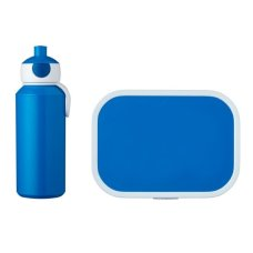 Drinkfles en Lunchbox Campus Blauw