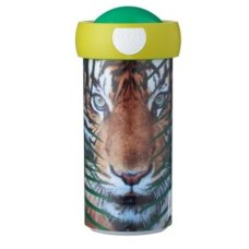 Schoolbeker Campus 300 ml Animal Planet Tijger Groen