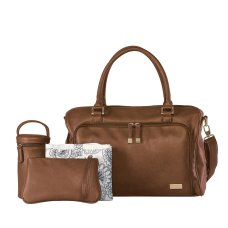 Isoki verzorgingstas / luiertas Double Zip Satchel Redwood Brown